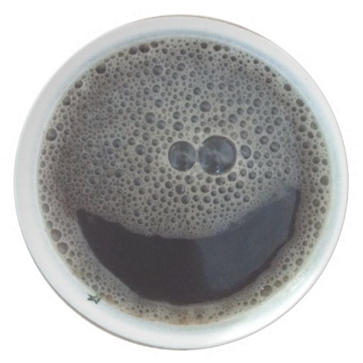 Time for coffee smiley face plate