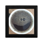 Time for coffee smiley face trinket box