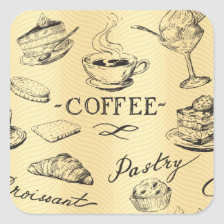Time for Coffee Square Sticker