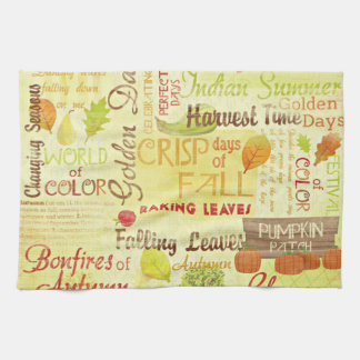 Time for Fall Kitchen Towels