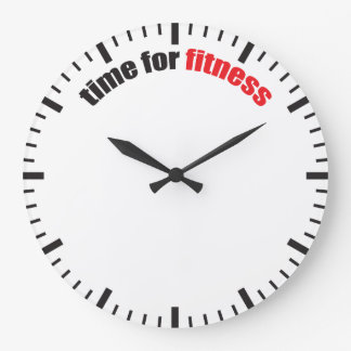 Time For Fitness - Gym Motivation Large Clock
