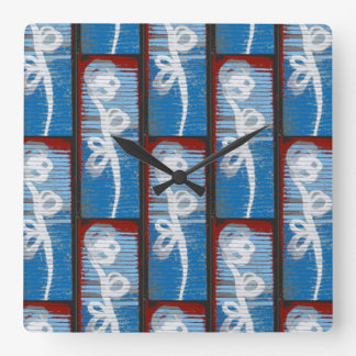 Time for Flowers Square Wall Clocks