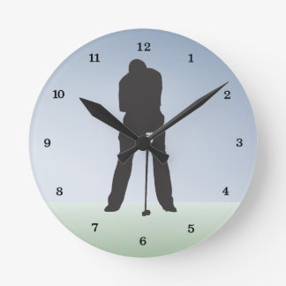 Time for Golf Sports And Leisure Round Clock
