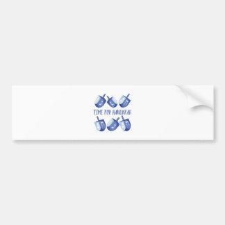 Time For Hanukkah Bumper Sticker