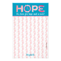 """""""Time for hope"""" personalized stationery"""