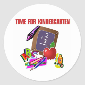 TIME FOR KINDERGARTEN Stickers