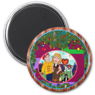 Time for Leisure ~ Personalize Round Magnet