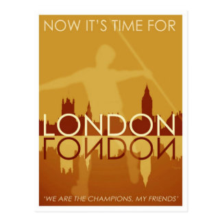Time for London postcard