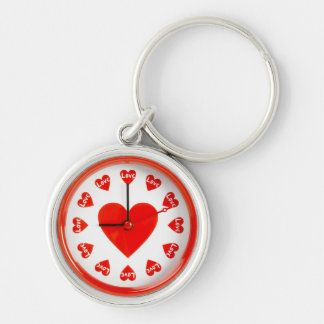 Time For Love - Red Heart Alarm Clock Original Keychain