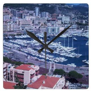 Time for Monaco! Square Wall Clocks