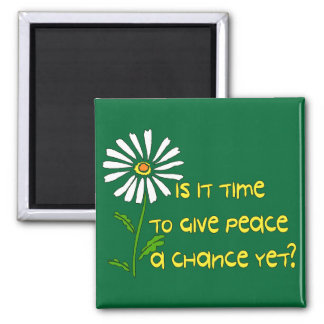 Time For Peace 2 Inch Square Magnet