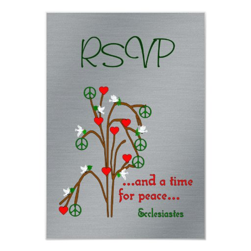 Time For Peace 3.5x5 Paper Invitation Card
