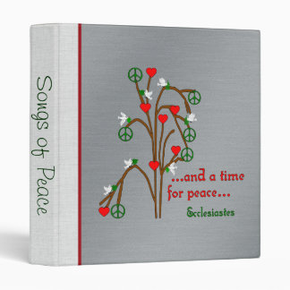 Time For Peace 3 Ring Binder