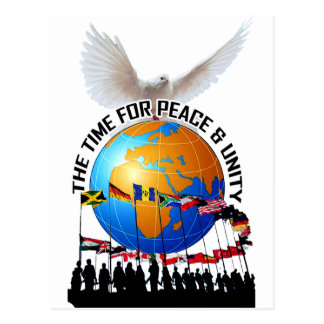 TIME FOR PEACE AND UNITY POSTCARD