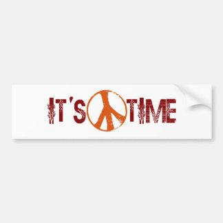 Time For Peace Bumper Sticker