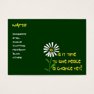 Time For Peace Business Card