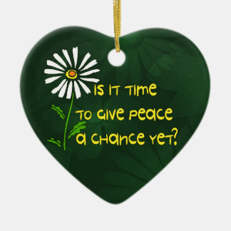 Time For Peace Ceramic Ornament