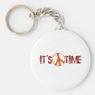 Time For Peace Basic Round Button Keychain