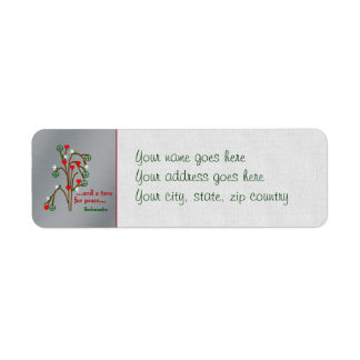 Time For Peace Return Address Label