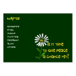 Time For Peace Large Business Cards (Pack Of 100)
