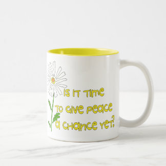 Time For Peace Two-Tone Coffee Mug