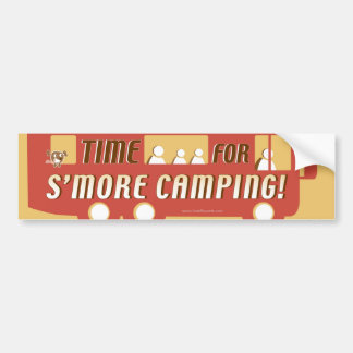 """Time for s'more camping!"" Car Bumper Sticker"
