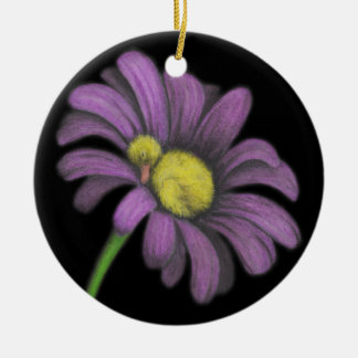 Time for snoozes my little flower. Double-Sided ceramic round christmas ornament