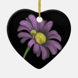 Time for snoozes my little flower. Double-Sided heart ceramic christmas ornament
