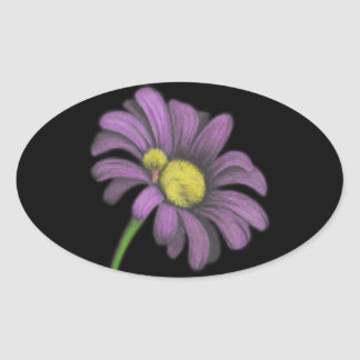 Time for snoozes my little flower. oval sticker
