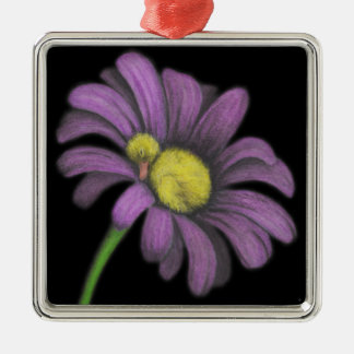 Time for snoozes my little flower. square metal christmas ornament