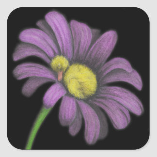 Time for snoozes my little flower. square sticker