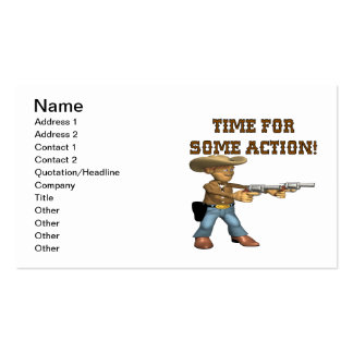 Time For Some Action Business Card Template