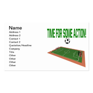 Time For Some Action Double-Sided Standard Business Cards (Pack Of 100)
