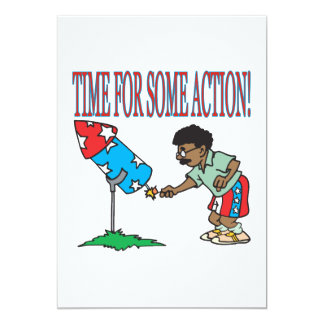 Time For Some Action Card