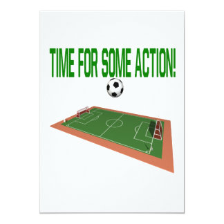 Time For Some Action 5x7 Paper Invitation Card