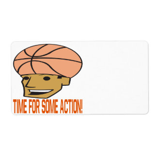 Time For Some Action Shipping Label