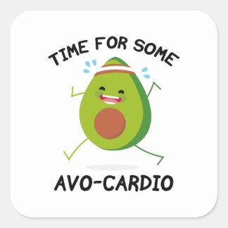 Time For Some Avo-Cardio Square Sticker