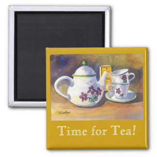 Time for Tea! 2 Inch Square Magnet