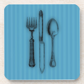 Time for Tea #3 Cutlery Beverage Coasters