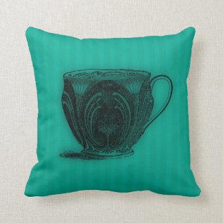 Time for Tea #4 Teacup Throw Pillow