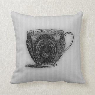 Time for Tea #5 Teacup Throw Pillow