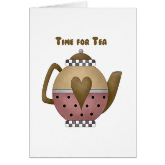 Time for Tea Greeting Card