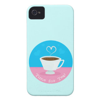 Time for Tea heart teacup Case-Mate iPhone 4 Cases