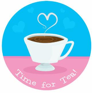 Time for Tea heart teacup Acrylic Cut Out