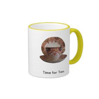 Time for Tea Ringer Coffee Mug