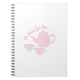 Time For Tea Spiral Note Book