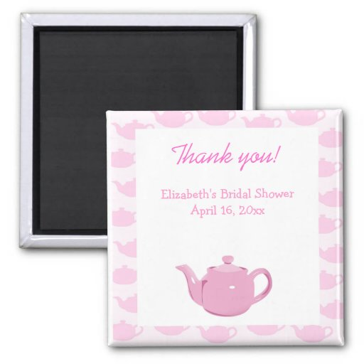 Time for Tea Pink Teapot Favor Magnet