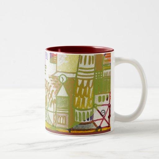 time for tea Two-Tone coffee mug