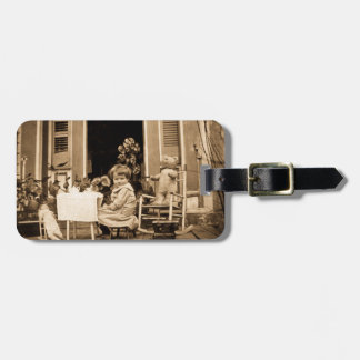 Time for Tea with Friends Vintage Tea Party Tag For Luggage