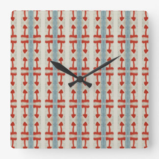 Time for This or That Square Wall Clock
